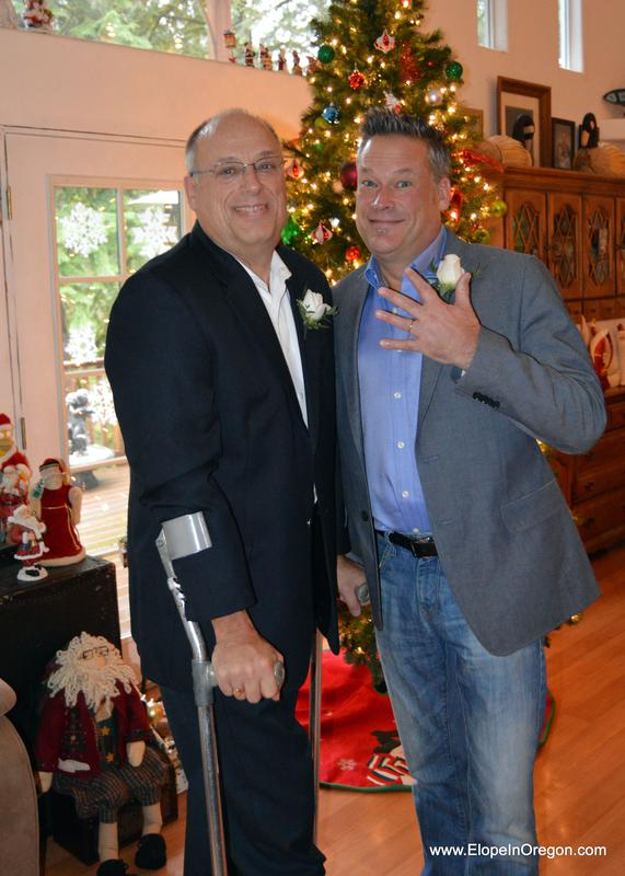 Christmas elopement. gay marriage